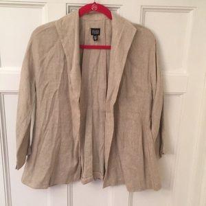 EUC Eileen Fisher open front blazer sz XS